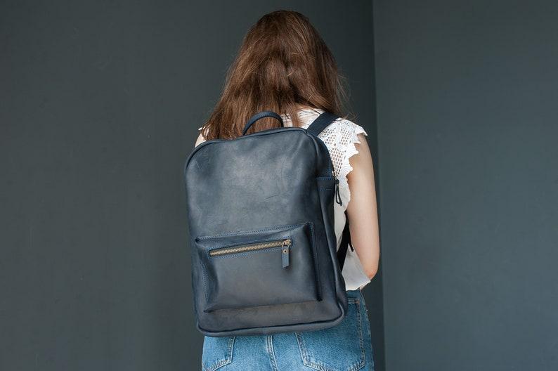 d870623f38bc8 Damen Leder Rucksack Arbeit Rucksack minimalistischen
