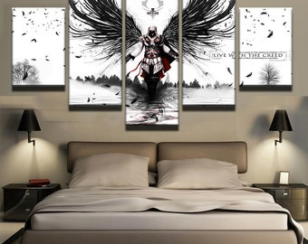 Assassins Creed 2 Ezio Art Canvas Wall Poster 3 sizes inches Wall Picture Assassins Creed cosplay