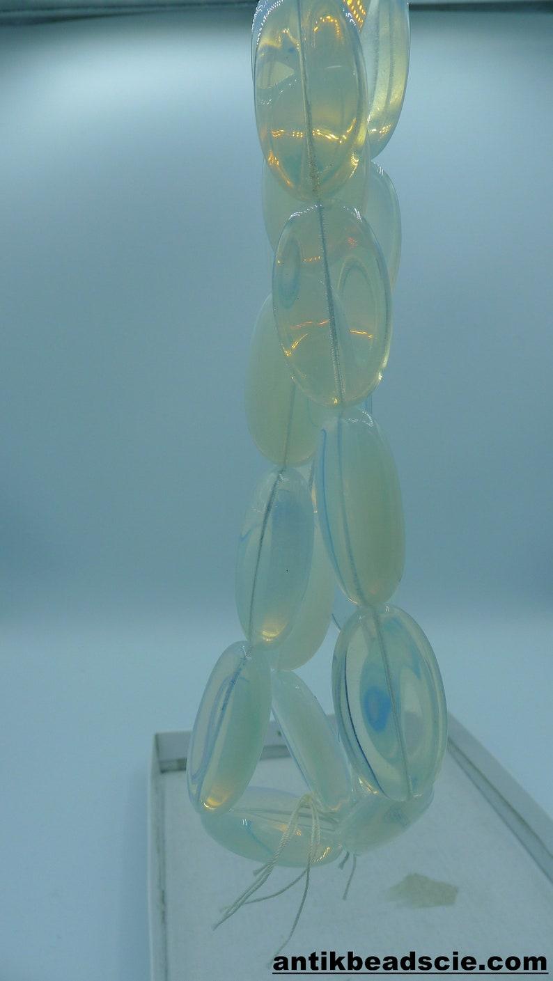 24 opal glass beads vintage