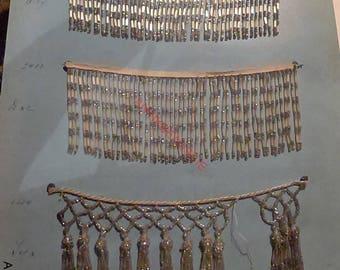 beaded fringe antique