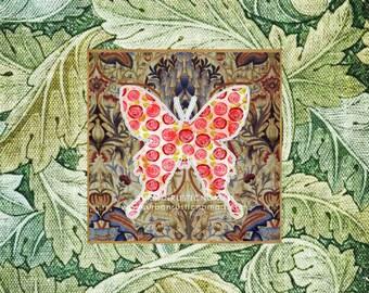 Butterfly Print, Butterfly Decor, Butterfly Download, Wall Art, Butterflies, Nature Poster, Modern Vintage, Fabric, Antique, Tropical