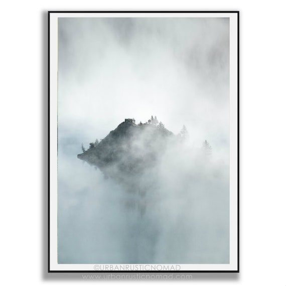 Art print POSTER Mist on Eikesdalvatnet Lake Norway