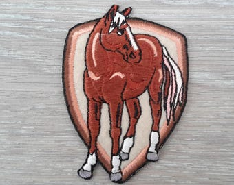 patch applique iron-on or sew depicting a horse