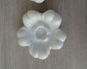 Set of 2 candle holders porcelain France