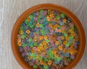 60 grams beadwork jewelry acrylic bicone beads
