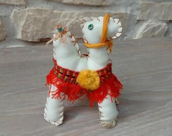 Handmade camel leather decoration