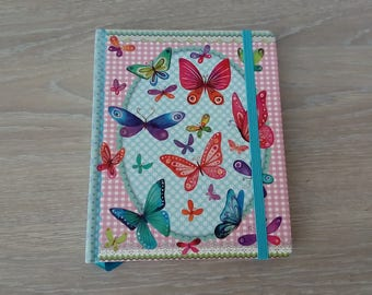 Butterfly notebook white leaves