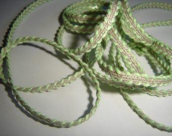 Green linen stripe / / 190 cm