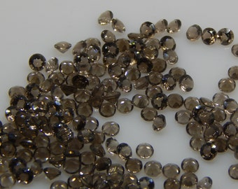 4X4MM Natural Smoky Quartz Round Faceted For 5 PC -Uniform height and color SMOKY QUARTZ calibrated gemstone Round