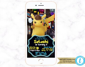 Pokemon Movie Invite