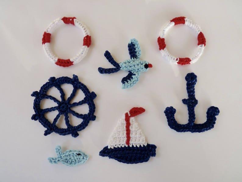Kids royal blue nautical whale inspired iron on felt applique