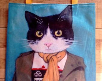 Tote bag HANDMADE cat cute