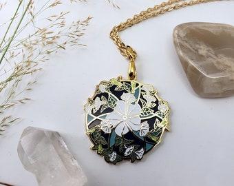 Moonflower Hard Enamel Necklace – Seeking Glass Series