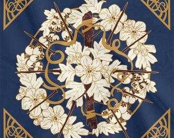Hawthorn Floral Printed Cloth
