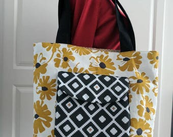 Medium size shopping tote/tote bag/holiday tote/ weekend tote.