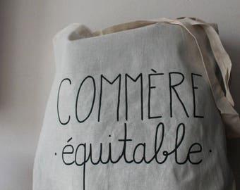 "Tote bag listing ""fair gossip"""
