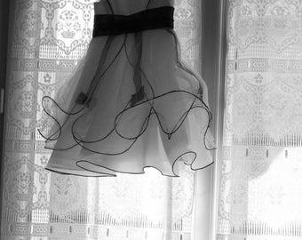 Small hanging bridal dress