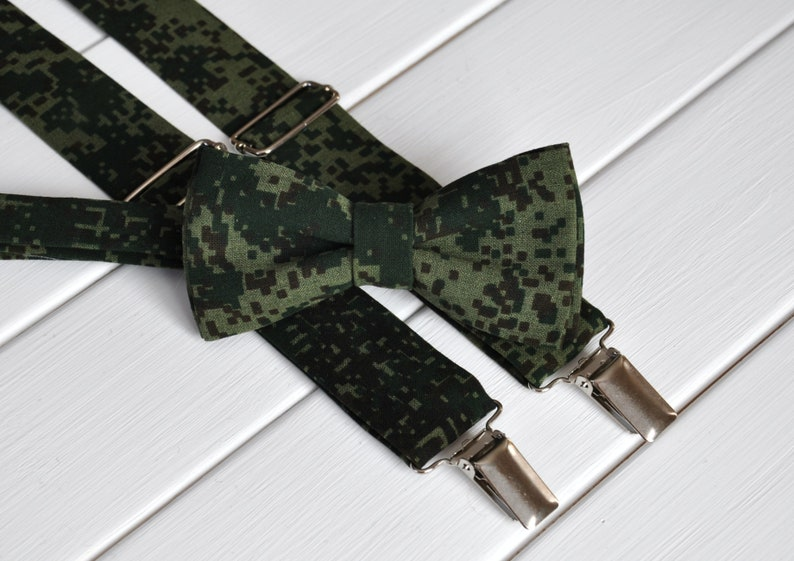 Christmas Braces Ideas.Dark Green Braces For Men Bow Tie And Braces Vegan Suspenders And Bowtie For A Wedding Christmas Gift Ideas For Husband