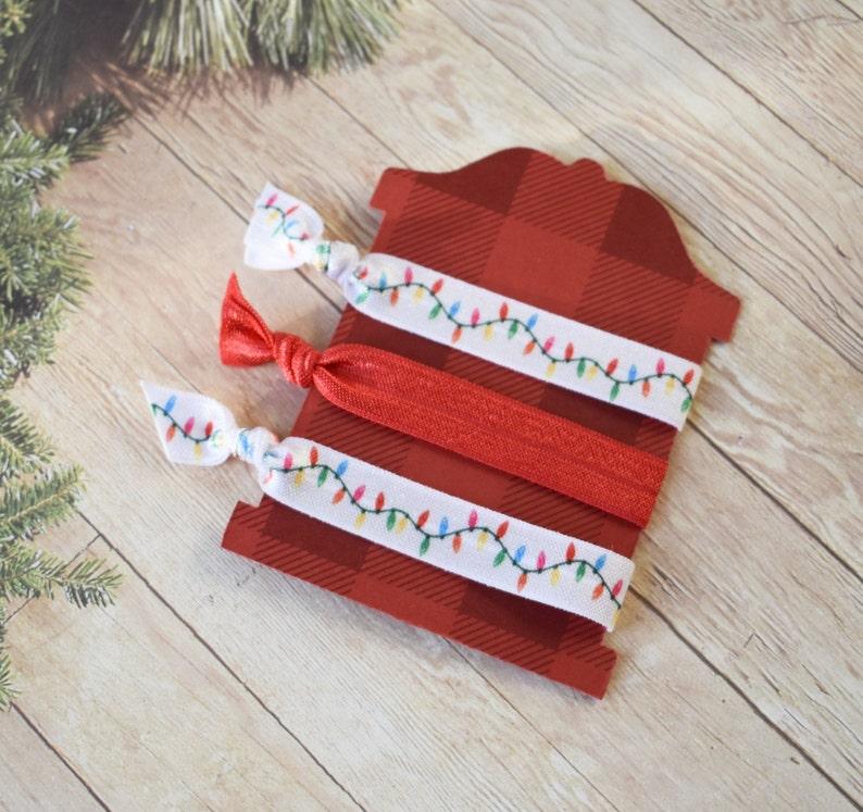 Set of 3 Christmas Elastic hair ties foe hair ties set