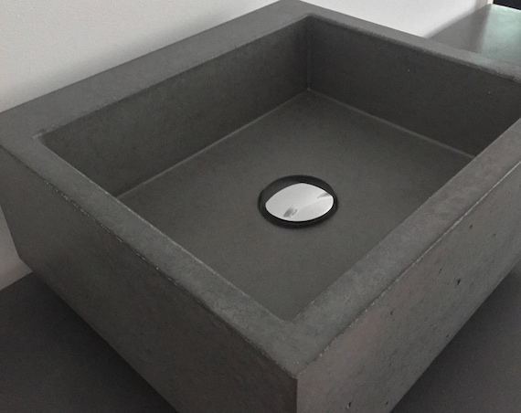 Beautiful polished concrete bathroom sink