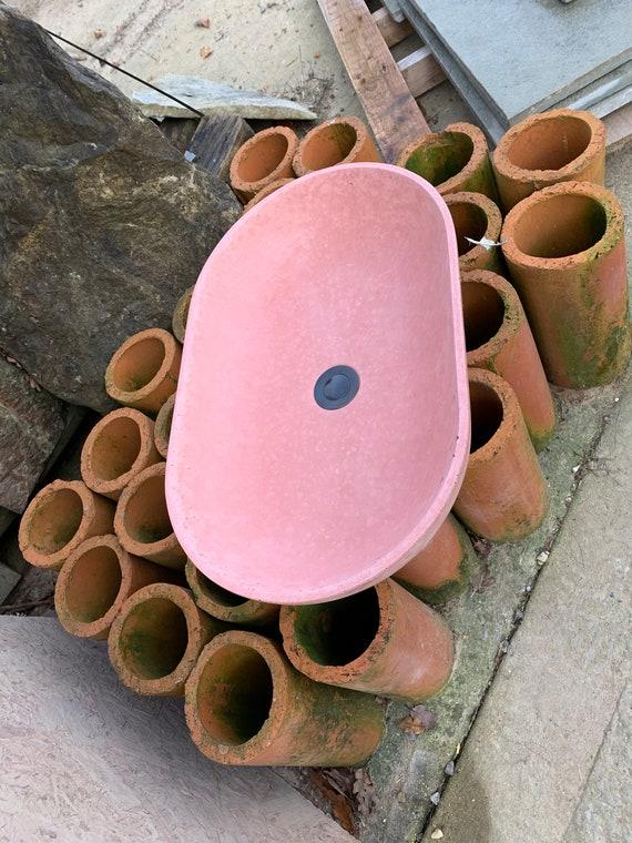 Concrete vessel sink