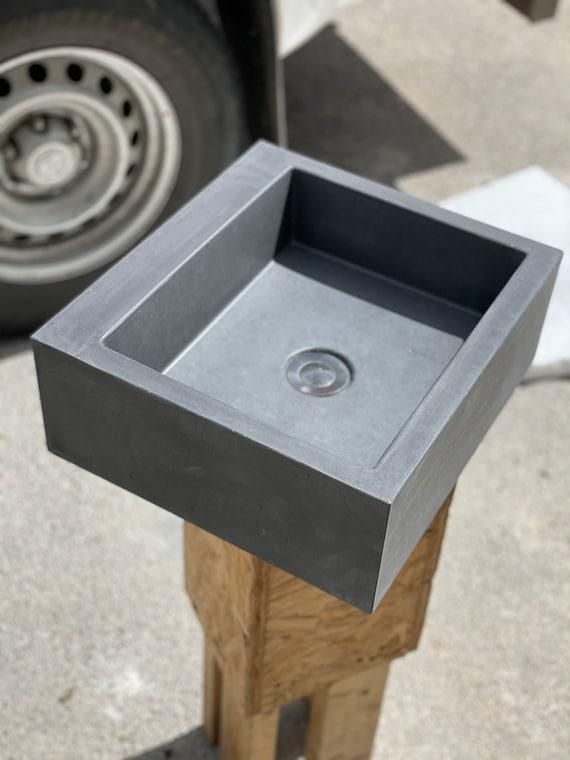 Beautiful polished concrete bathroom sink