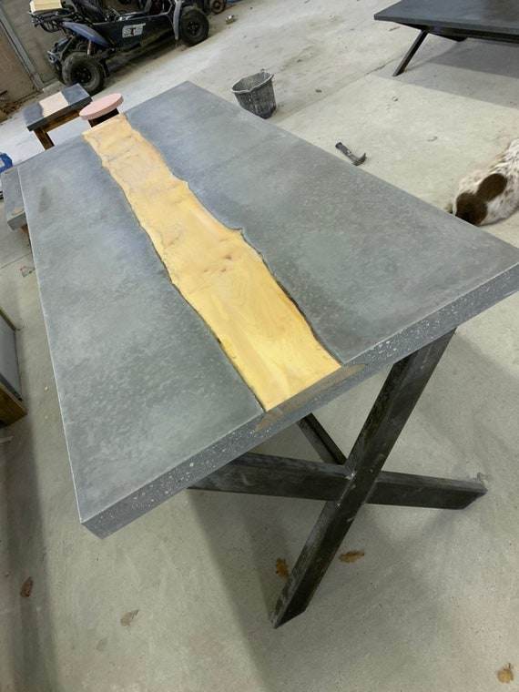 Bespoke concrete dining room table
