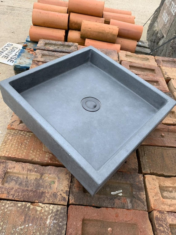 Modern Square bathroom Concrete Sink