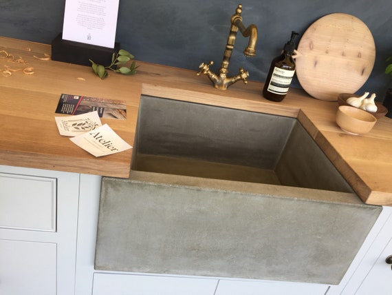 Concrete Belfast Sink handmade