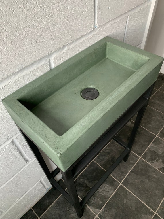 Concrete sink and frame