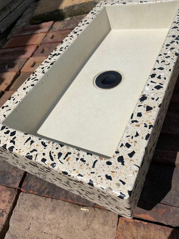 Terrazzo concrete sink