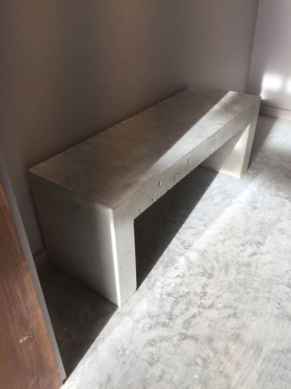 polished concrete bench handmade