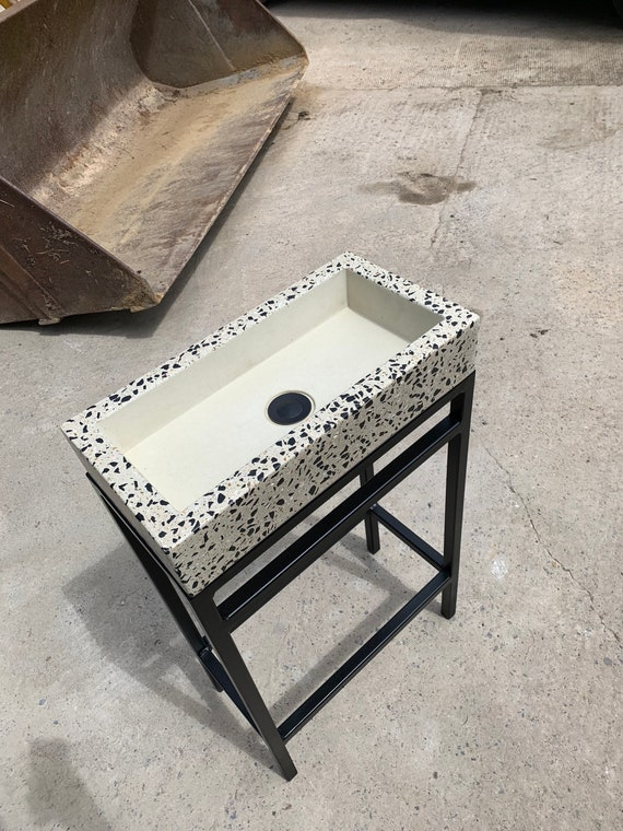 Terrazzo Concrete Sink and Stand