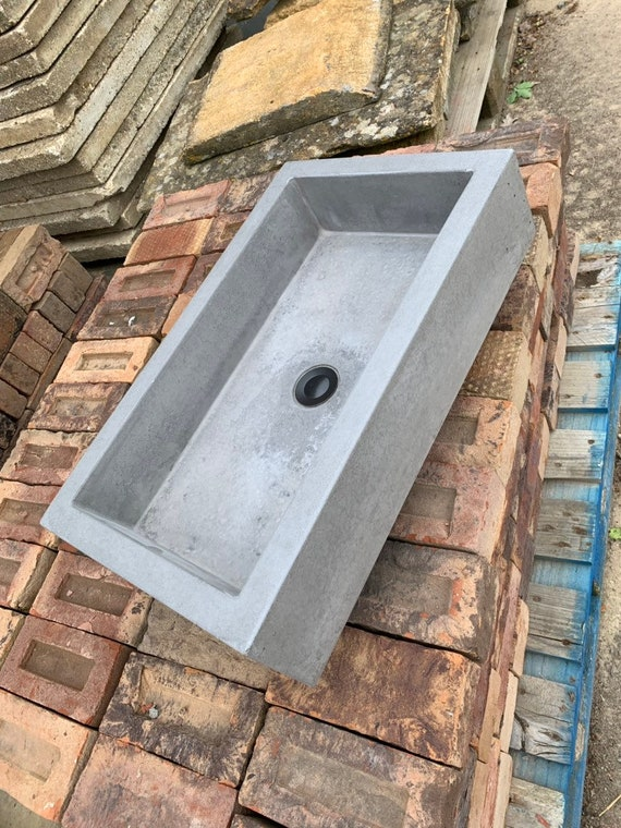 Bathroom Concrete trough sink
