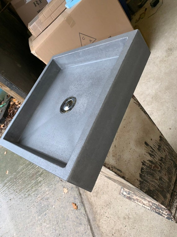 Modern Square Concrete Sink