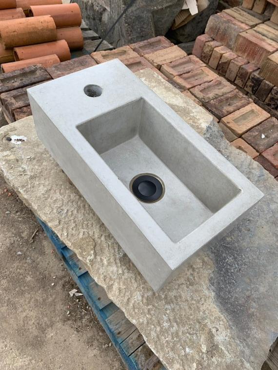 Mini concrete bathroom sink