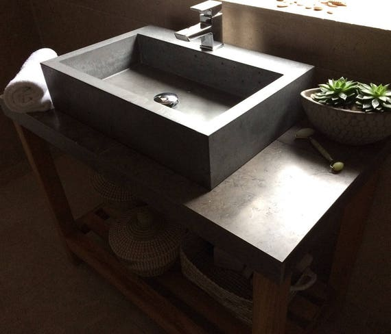 Bathroom concrete sink