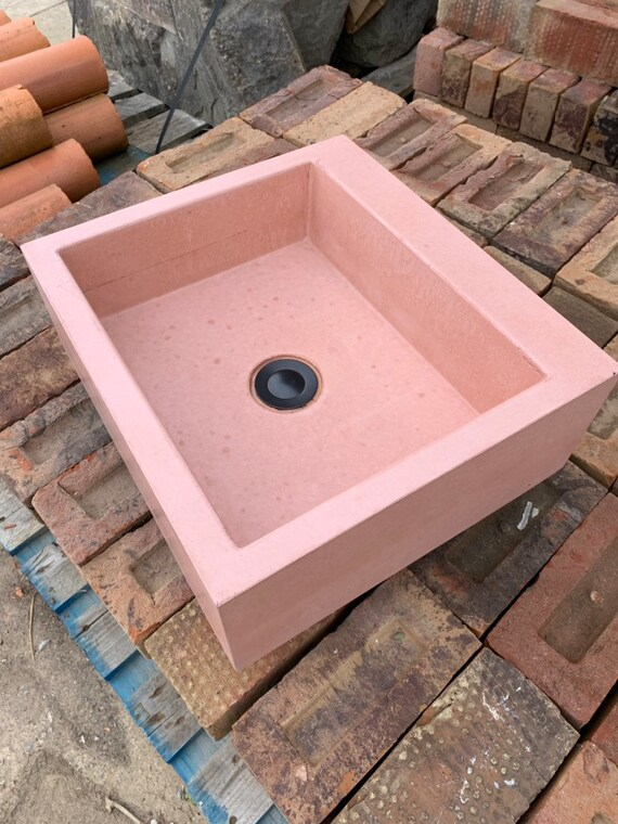 Pink bathroom Concrete sink