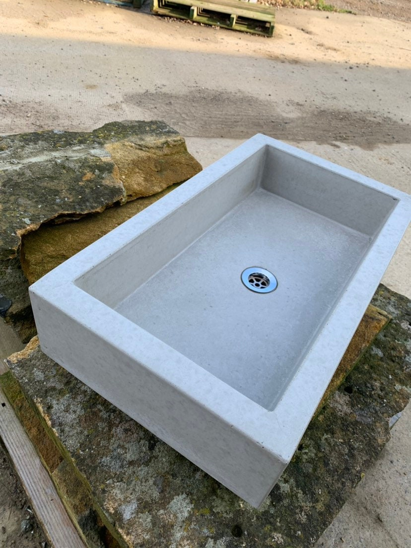 Picture of: Bathroom Concrete Trough Sink