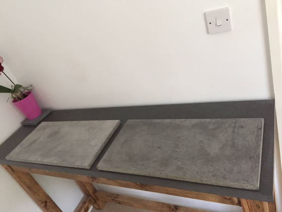 bespoke, handmade, hand trowelled,large decorative  polished concrete piece