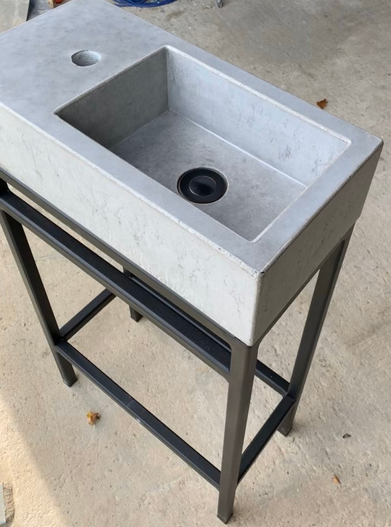 Mid Size Concrete Sink & Custom Frame