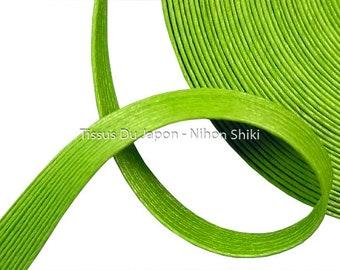 10 meters basketry - paper tape basketry - kraft paper tape - paper weaving basketry - TV21 green corrugated kraft paper