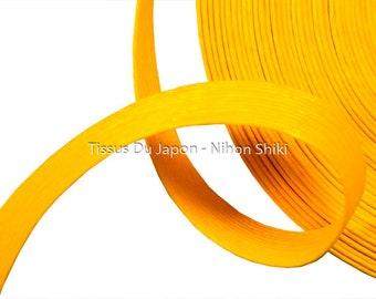 10 meters basketry - paper tape basketry - kraft paper tape - paper weaving basketry - TV19 yellow corrugated kraft paper