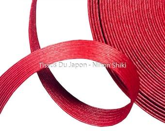 10 meters basketry - paper tape basketry - kraft paper tape - paper weaving basketry - TV13 Burgundy corrugated kraft paper