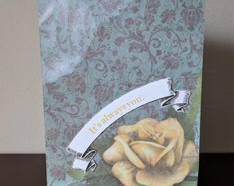 It's Always You - Handmade Romantic Card