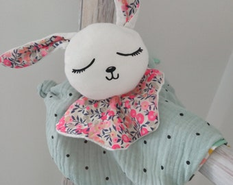 Doudou dish rabbit attachment nipple gift birth