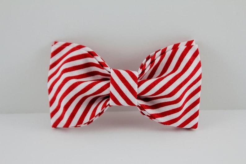 Collar Add Red Bow Tie Boy Collar Bow Tie Candy Striper Bow Tie Male Bow Tie Collar Upgrade Collar Bow Tie Bow Tie stripe Bow Tie