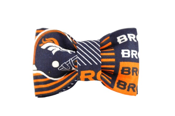 DENVER BRONCOS FOOTBALL BOW TIE PET BOW /</<FREE SHIPPING/>/> HAIR BOW