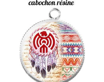 Pendant cabochon resin 20 mm dreamcatcher dream catcher Indian c7