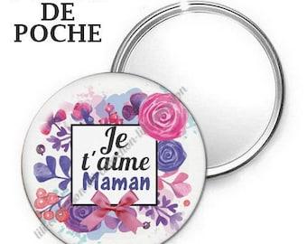 -Badge - 56mm Pocket mirror - I love you MOM 2